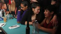 "Women met at Club F8 as part of an event put on by Uhaul SF in San Francisco on Friday Nov. 18, 2016. This party was put on by Uhaul SF who put on parties for ""girls who love girls"". (Connor Hunt/Xpress)"