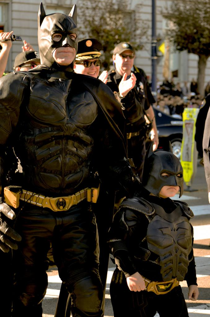Bat Boy, Miles Scott a 5-year-old boy battling Leukemia came to save the city when the little hero becomes Batman for a day through Make A Wish Foundation, Miles wished to become Batman and his wish came true Friday, November 15, 2013 in San Francisco his last stop here at Civic Center in San Francisco, Calif. Photo by Amanda Peterson / Xpress