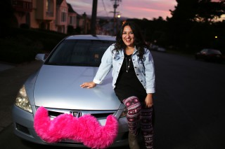 Student by day, Erika Maldonado moonlights as a Lyft driver in the City by the Bay. Photo by John Ornelas / Xpress