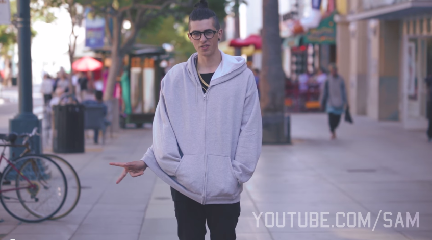 A screenshot of Sam Pepper before he begins his