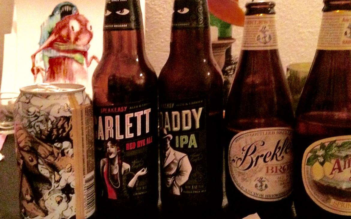 We (tried to) review five beers total from three local breweries that participated in the fiasco.