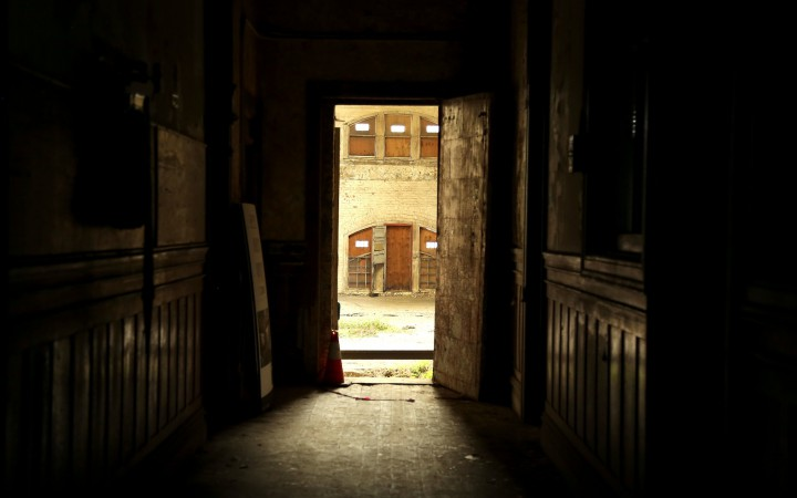 The hallway leading to the entrance of the Powerhouse at the Geneva Car Barn on Thursday Feb 5, 2015. Photo by: Emma Chiang
