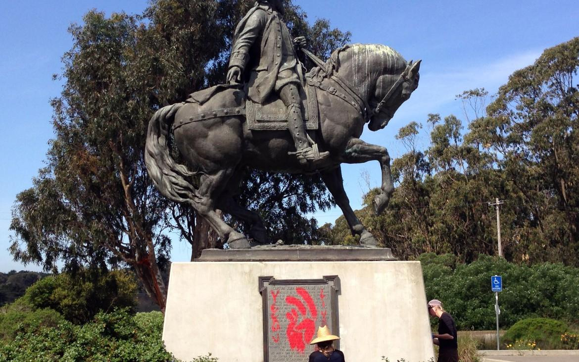 Vandal Tags Statue with Cultural Message