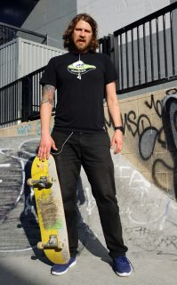 Kelly Weber poses for a portrait at SoMa Skate Park. Perng-chih Huang // Xpress Magazine