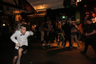 924 Gilman is an non-profit community space that hosted their annual Punk Rock Prom in Berkeley, Calif on April 29, 2017. (Laila Rashada/ XPRESS)