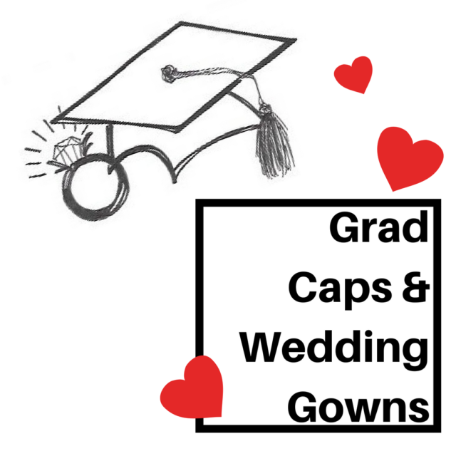 Grad+Caps+and+Wedding+Gowns