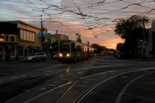 Inbound muni coming into West Portal Station. October 4th. (Francisca Velasco/XPRESS).