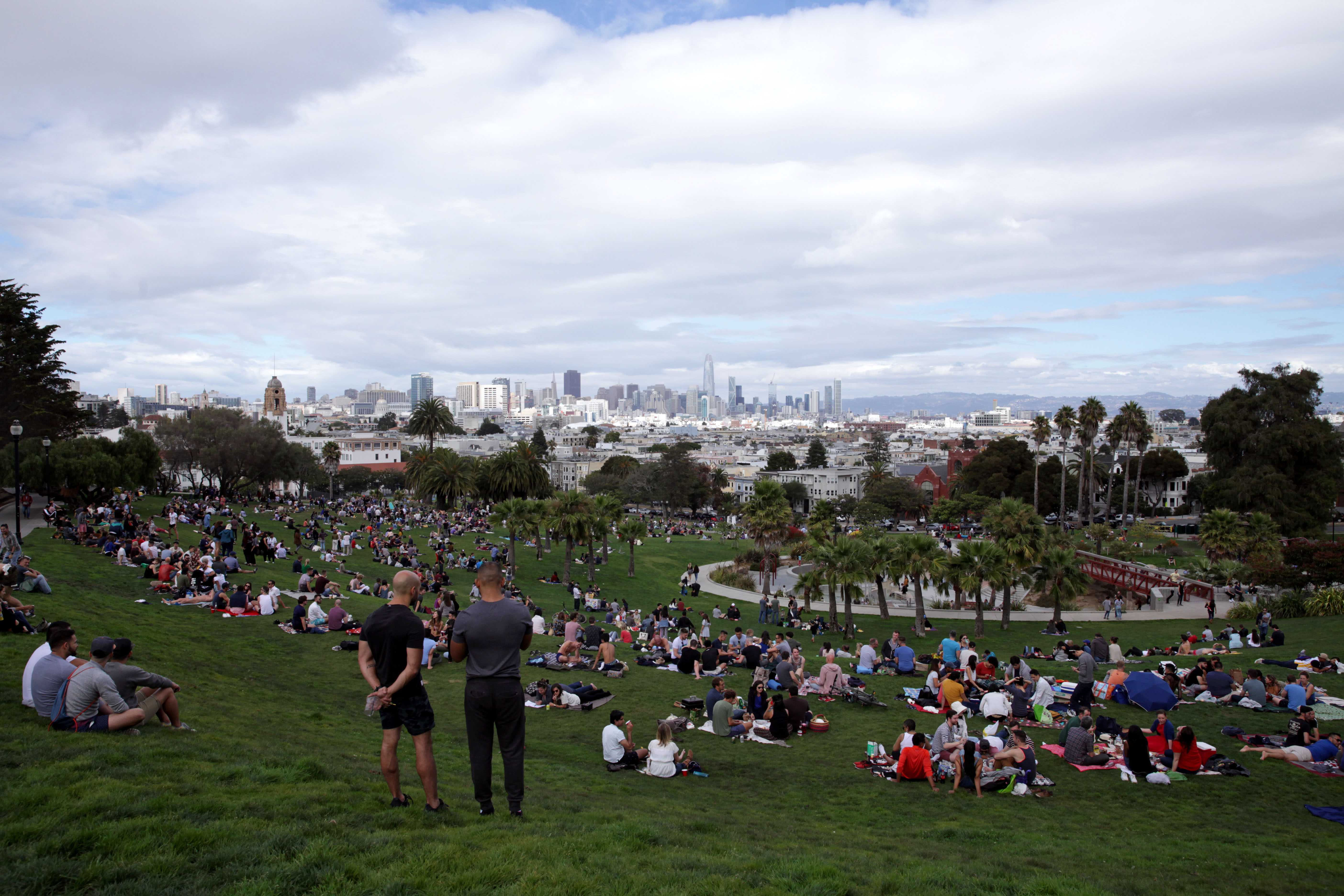The top of Mission Dolores Park, in San Francisco, Calif. on September 29, 2018. (Janett Perez/Xpress)