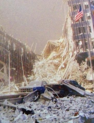 Jimmy Buckley's truck, surrounded by debris, stood in front of the crumbling towers during theattacks on the World Trade Center. The truck was never found following the incident.