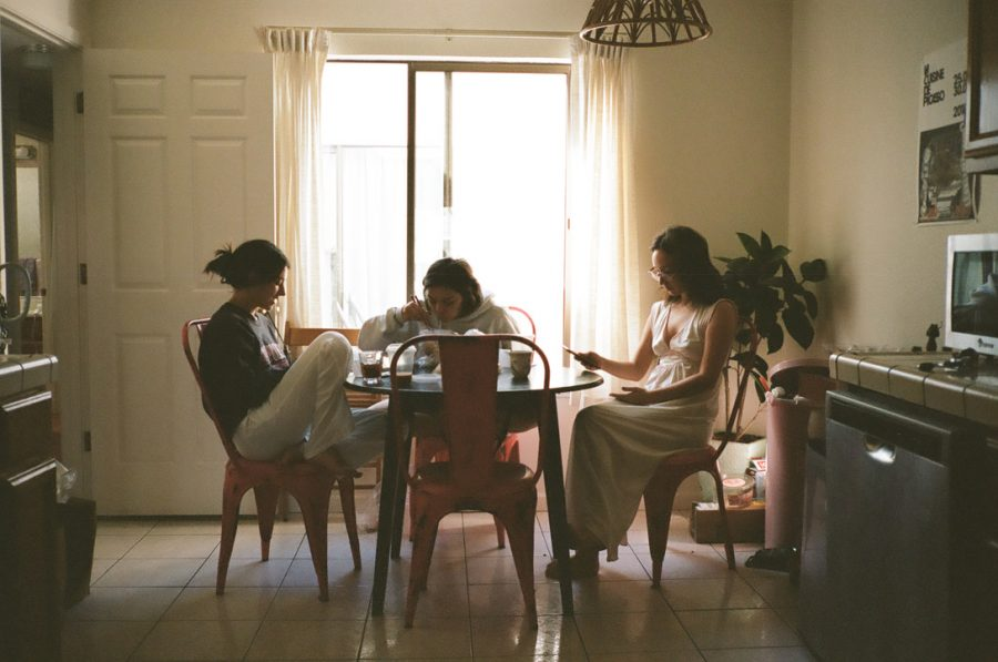 """sunday morning's parallel lives."" photo of Alexandra Levey, Olivia Reich and Hannah Sudaria by Eloise Kelsey."