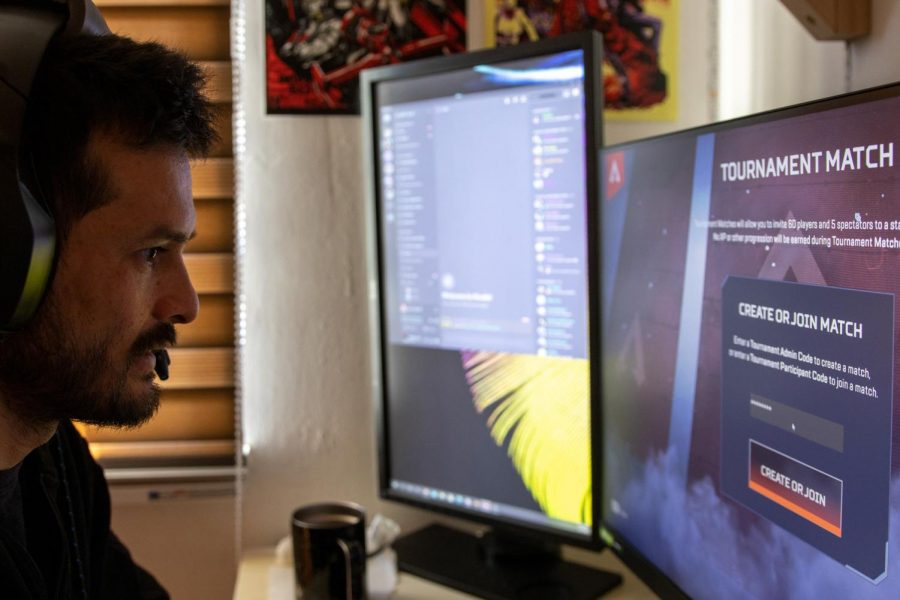 He is mainly a PC gamer. He built his PC from scratch by watching YouTube tutorials. Building his PC allowed him to save money, customize it for gaming and personalize it to his liking. (Amalia Diaz / Xpress Magazine)