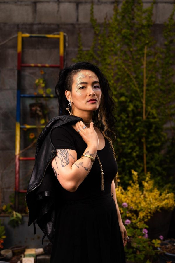 Joyce Yin (she/they) likes to express themselves through fashion and make-up. (Jun Ueda / Xpress Magazine)