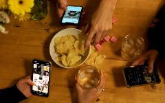 College students indulge in social media while at home in San Francisco, Calif. (Morgan Ellis / Xpress Magazine)