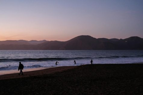 Sunset at Baker Beach in San Francisco, Calif., on Oct. 14, 2021. (Avery Wilcox / Xpress Magazine)